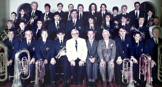 Manea Silver Band in Manea Methodist Chapel, c.1980s