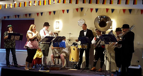 A typical German night band, ideal for Oktoberfest! Manea Silver Oompah Band at a British Legion event in 2016.