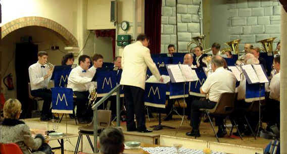 Manea Silver Band present a concert at the Village Hall under the baton of Peter Cain, c.2000s